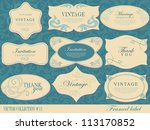 vintage labels collection ... | Shutterstock .eps vector #113170852