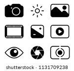 set of black vector photography ... | Shutterstock . vector #1131709238
