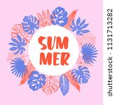 colourful summer banner with... | Shutterstock .eps vector #1131713282