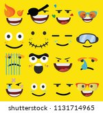 cartoon faces expressions vector | Shutterstock .eps vector #1131714965