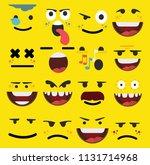 cartoon faces expressions vector | Shutterstock .eps vector #1131714968