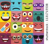 cartoon faces expressions... | Shutterstock .eps vector #1131715538