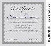 grey diploma or certificate... | Shutterstock .eps vector #1131716738