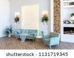 fashionable spacious apartment...   Shutterstock . vector #1131719345