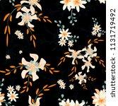 little floral seamless pattern...   Shutterstock .eps vector #1131719492