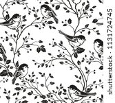 seamless floral pattern with... | Shutterstock .eps vector #1131724745