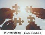 close up. hands of... | Shutterstock . vector #1131726686