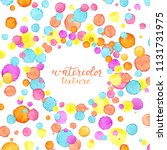 confetti frame. watercolor... | Shutterstock .eps vector #1131731975