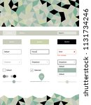 light green vector design ui...