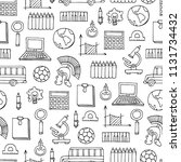 vector seamless pattern with... | Shutterstock .eps vector #1131734432