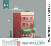 vector city builder. downtown... | Shutterstock .eps vector #1131738692