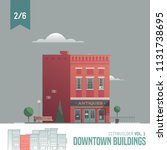 vector city builder. downtown... | Shutterstock .eps vector #1131738695