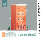vector city builder. downtown... | Shutterstock .eps vector #1131738698