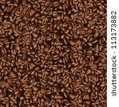 coffee bean wallpaper | Shutterstock .eps vector #113173882