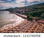 aerial view of a nice sunny... | Shutterstock . vector #1131740558