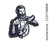 bearded barmen  barkeeper or...   Shutterstock .eps vector #1131748808
