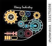 logo for a heavy industry... | Shutterstock .eps vector #1131751058