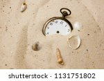 old and antique vintage clock... | Shutterstock . vector #1131751802