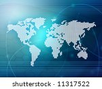 world map technology style | Shutterstock . vector #11317522