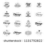 chicago. greeting cards  vector ...   Shutterstock .eps vector #1131752822