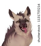 striped hyena portrait | Shutterstock . vector #1131755216
