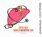 illustration of world hepatitis ...   Shutterstock .eps vector #1131759458