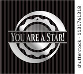 you are a star  silver shiny... | Shutterstock .eps vector #1131761318