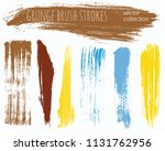 paint lines grunge collection.... | Shutterstock .eps vector #1131762956