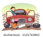 illustration of stickman kids... | Shutterstock .eps vector #1131763862