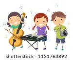 illustration of stickman kids... | Shutterstock .eps vector #1131763892