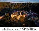 aerial view on loket castle ... | Shutterstock . vector #1131764006