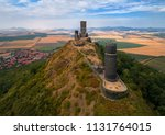 aerial view on two stone towers ... | Shutterstock . vector #1131764015