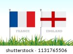 flags of france and england... | Shutterstock .eps vector #1131765506