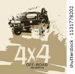 off road hand drawn grunge... | Shutterstock .eps vector #1131778202