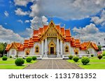 wat benchamabophit dusitvanaram ... | Shutterstock . vector #1131781352