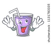 crazy berry smoothie mascot... | Shutterstock .eps vector #1131783335