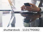 businessman busy working on...   Shutterstock . vector #1131790082