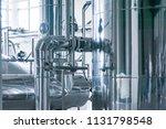 modern interior of a brewery... | Shutterstock . vector #1131798548