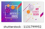 creative set of covers with 3d... | Shutterstock .eps vector #1131799952