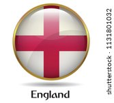 england flag with gold frame... | Shutterstock .eps vector #1131801032
