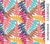 fern frond herbs  tropical... | Shutterstock .eps vector #1131803312