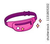 cute and trendy fanny pack ... | Shutterstock .eps vector #1131805202