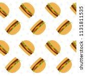 hamburger seamless pattern... | Shutterstock .eps vector #1131811535