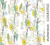 seamless floral decorative... | Shutterstock .eps vector #1131815522