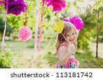 little girl with a toy crown | Shutterstock . vector #113181742