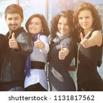 group of cheerful students...   Shutterstock . vector #1131817562