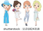 set of hand drawn beautiful... | Shutterstock .eps vector #1131824318