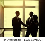 the image of a business team...   Shutterstock . vector #1131829802
