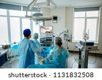 back view of surgeons team... | Shutterstock . vector #1131832508