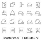 set of hard drive related... | Shutterstock .eps vector #1131836072